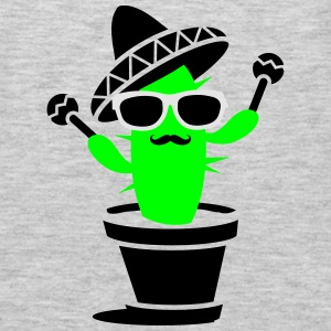 Cactus with sombrero and maracas  Tanks - Men's Premium Long Sleeve T-Shirt
