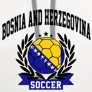 bosnia_and_herzegovina_soccer Women's T-Shirts - Contrast Hoodie