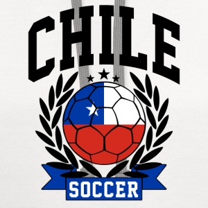 chile_soccer Women's T-Shirts - Contrast Hoodie