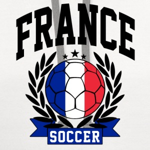 france_soccer Women's T-Shirts - Contrast Hoodie