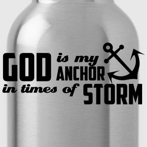 God is my Anchor T-Shirts - Water Bottle