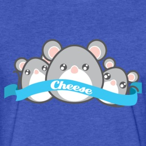 3 Little Mouse Sweatshirts - Fitted Cotton/Poly T-Shirt by Next Level