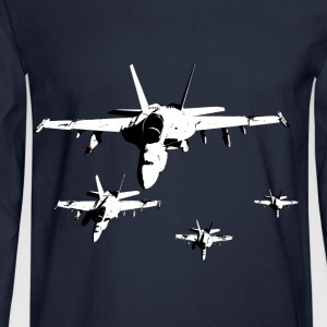 F-18 Fighter Jets in Formation - Men's Long Sleeve T-Shirt