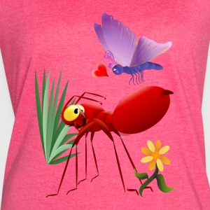 Fire Ant and Purple Butterfly-Love is in the air. - Women's Vintage Sport T-Shirt