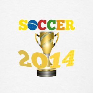 Soccer 2014 Trophy - Men's T-Shirt