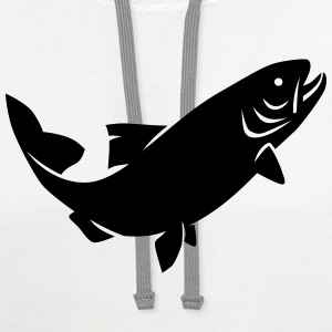 Trout T-Shirts - Contrast Hoodie