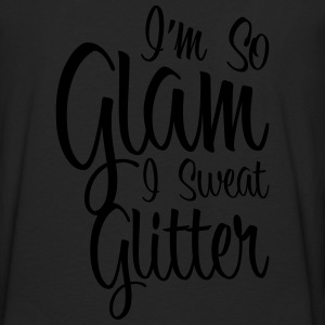 So Glam I Sweat Glitter Zip Hoodies & Jackets - Men's Premium Long Sleeve T-Shirt