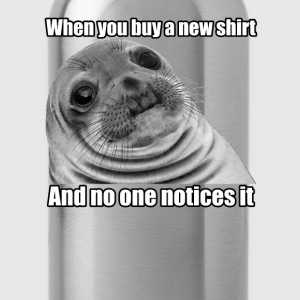 Awkward Seal Premium Shirt - Water Bottle