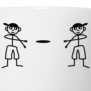 2 males play Frisbee T-Shirts - Coffee/Tea Mug