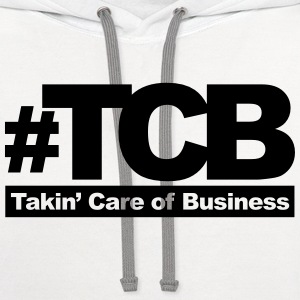 takin care of business T-Shirts - Contrast Hoodie