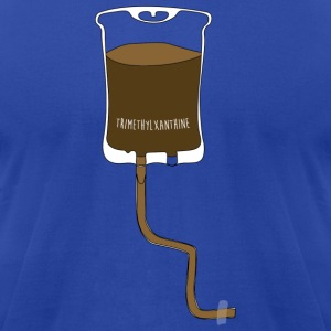 Coffee & Tee Humor Apparel Shirts Hoodies - Men's T-Shirt by American Apparel