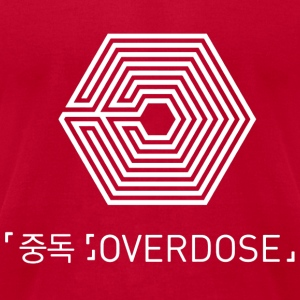 EXO OVERDOSE KOR/ENG White Hoodies - Men's T-Shirt by American Apparel