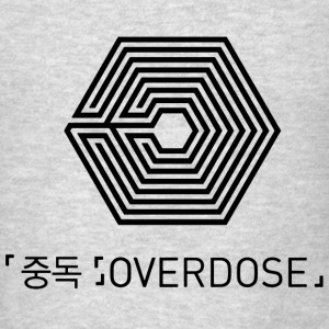EXO Overdose KOR/ENG Black Hoodies - Men's T-Shirt