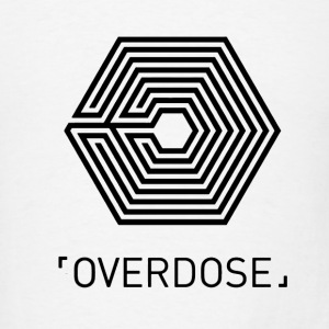 EXO Overdose ENG Black Hoodies - Men's T-Shirt