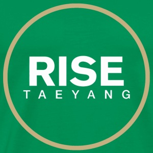 Rise - Bigbang Taeyang - White, Gold halo Hoodies - Men's Premium T-Shirt