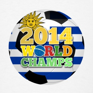 2014 World Champs Ball - Uruguay Bottles & Mugs - Men's T-Shirt
