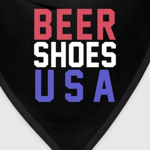Beer Shoes USA T-Shirts - Bandana