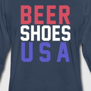 Beer Shoes USA T-Shirts - Men's Premium Long Sleeve T-Shirt