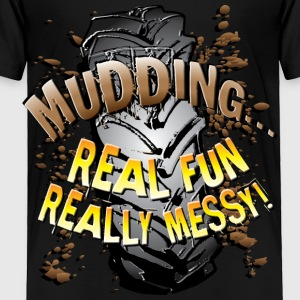 Mud Trucks Messy Fun Kids' Shirts - Toddler Premium T-Shirt