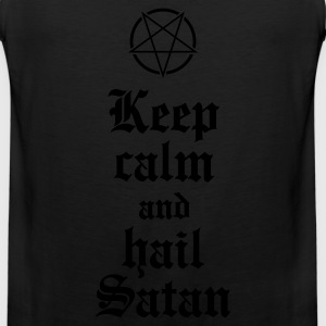 Keep calm and hail Satan V.2 Kids' Shirts - Men's Premium Tank