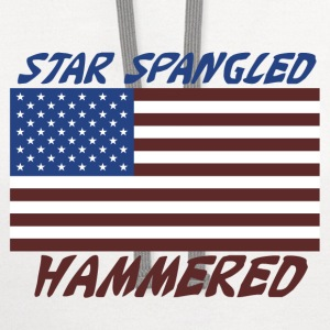 Star Spangled Hammered - Contrast Hoodie