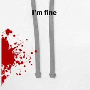 I'm Fine - Contrast Hoodie