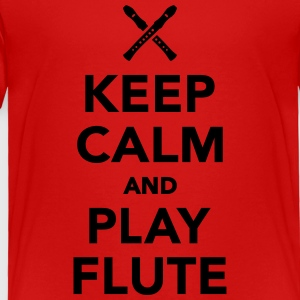 Keep calm and Play Flute Kids' Shirts - Toddler Premium T-Shirt
