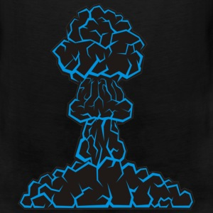 Blue Mushroom Cloud T-Shirts - Men's Premium Tank