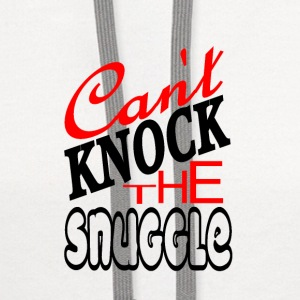 Can't Knock The Snuggle - Contrast Hoodie