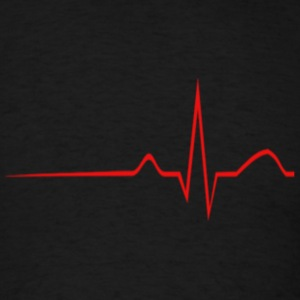 Heartbeat - Men's T-Shirt