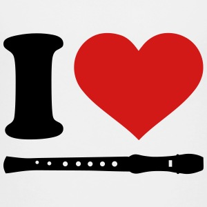I love Flute Kids' Shirts - Toddler Premium T-Shirt