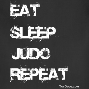 Eat Sleep Judo Repeat 002 wb TD T-Shirts - Adjustable Apron