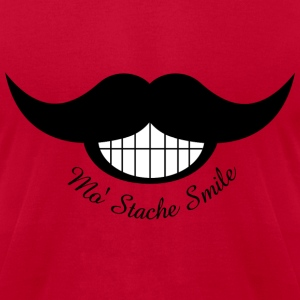 Mustache Smile - Men's T-Shirt by American Apparel