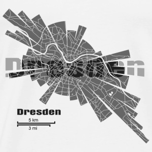Dresden Map Tanks - Men's Premium T-Shirt
