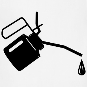 An oil can and oil drop  T-Shirts - Adjustable Apron