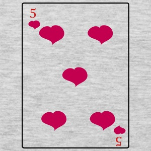 5 Of Hearts - Men's Premium Long Sleeve T-Shirt
