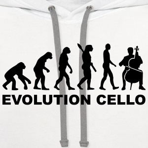 Evolution Cello T-Shirts - Contrast Hoodie