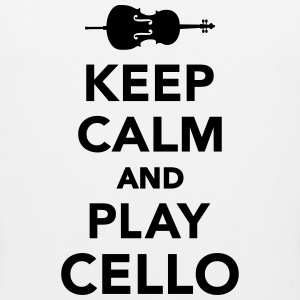 Keep calm and Play Cello T-Shirts - Men's Premium Tank