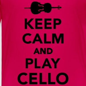 Keep calm and Play Cello Kids' Shirts - Toddler Premium T-Shirt