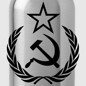 hammer sickle star wreath - Water Bottle