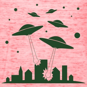 Ufo attack Invasion - Women's Flowy Tank Top by Bella