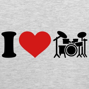 I love Drums Kids' Shirts - Men's Premium Tank