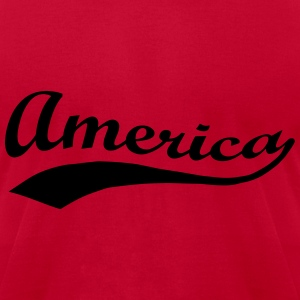 America Patriotic Script Sweatshirts - Men's T-Shirt by American Apparel