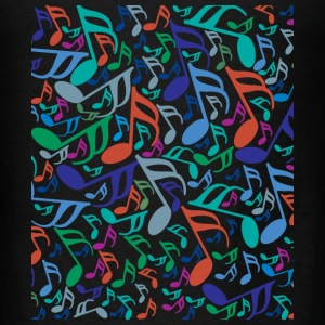 10x12 Colorful Music Notes Bags & backpacks - Men's T-Shirt