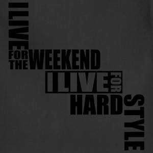 I live for the Weekend, I live for Hardstyle Neon  - Adjustable Apron