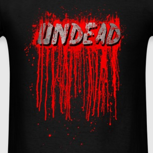 UNDEAD - Blood Smeared / horror / splatter Hoodies - Men's T-Shirt