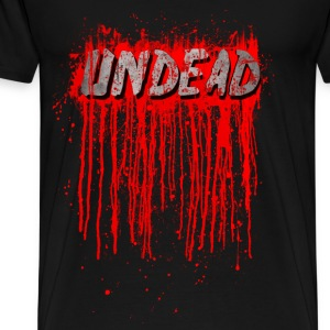 UNDEAD - Blood Smeared / horror / splatter Long Sleeve Shirts - Men's Premium T-Shirt