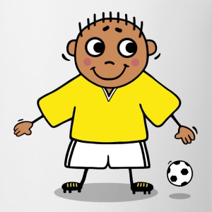 Soccer player - yellow and white jersey Kids' Shirts - Coffee/Tea Mug