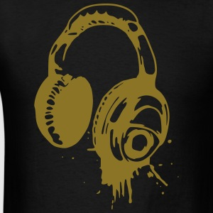 Headphones Hoodie - Men's T-Shirt