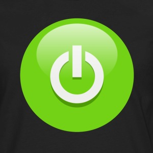 Power Button Green T-Shirts - Men's Premium Long Sleeve T-Shirt